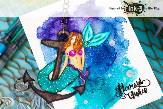 Mariner Mermaid Card - Ink On 3 by ilovedoingallthingscrafty
