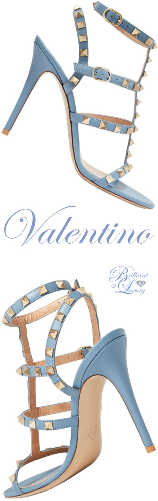 Brilliant Luxury ♦ Valentino Garavani Rockstud leather sandals