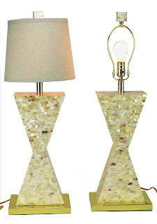Currey and Co., White Shell Tile, Humoresque Lamps