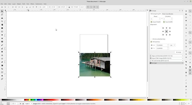 Cara Memotong Foto Gambar di Inkscape