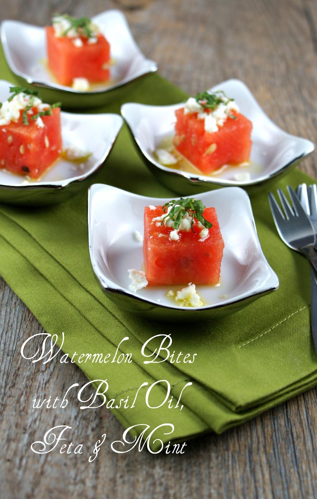 Authentic Suburban Gourmet: Watermelon Bites with Basil ...