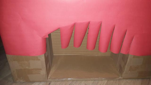 diy tutoriel tuto fabrication maison cheminée noel papier kraft fermer l'arche