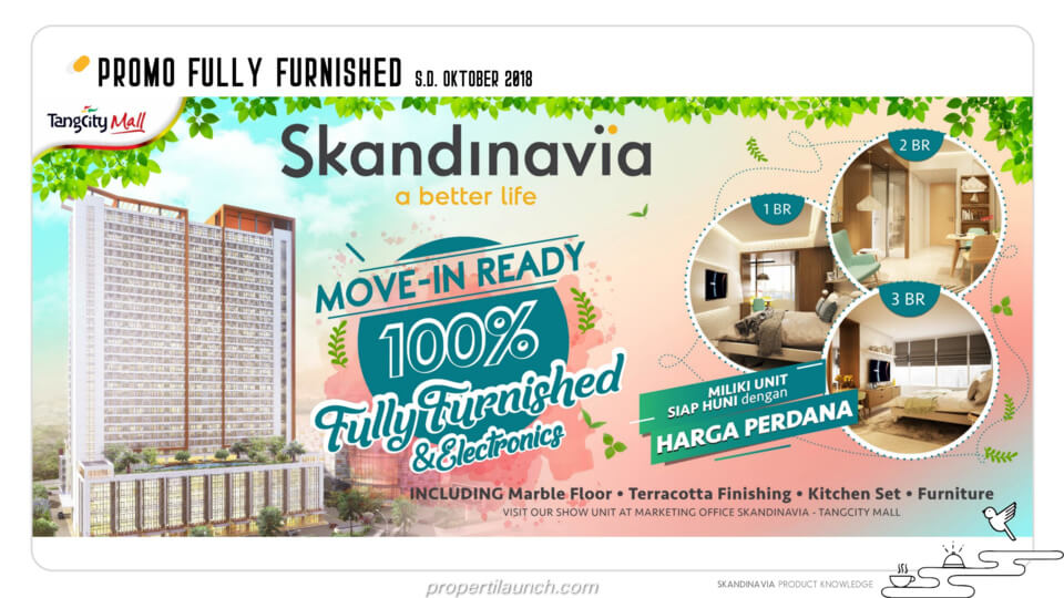 Promo Fully Furnished Apartemen Skandinavia Alter Ego