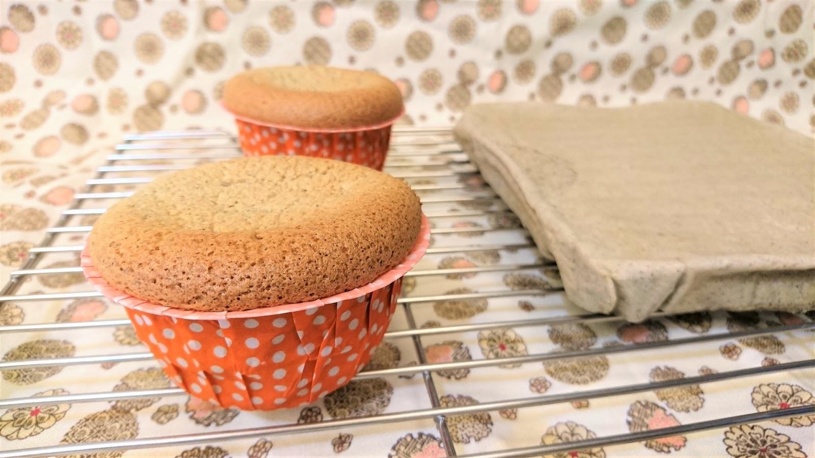 米蛋糕做法(二):椰香紫米杯子蛋糕/水蒸蛋糕