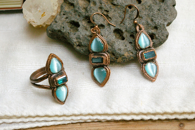 https://www.etsy.com/ca/listing/658116050/boho-electroformed-ring-and-earring-set
