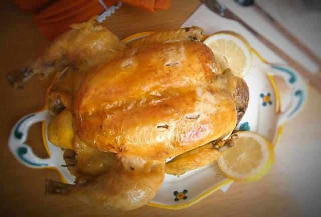 Pollo asado al limón.