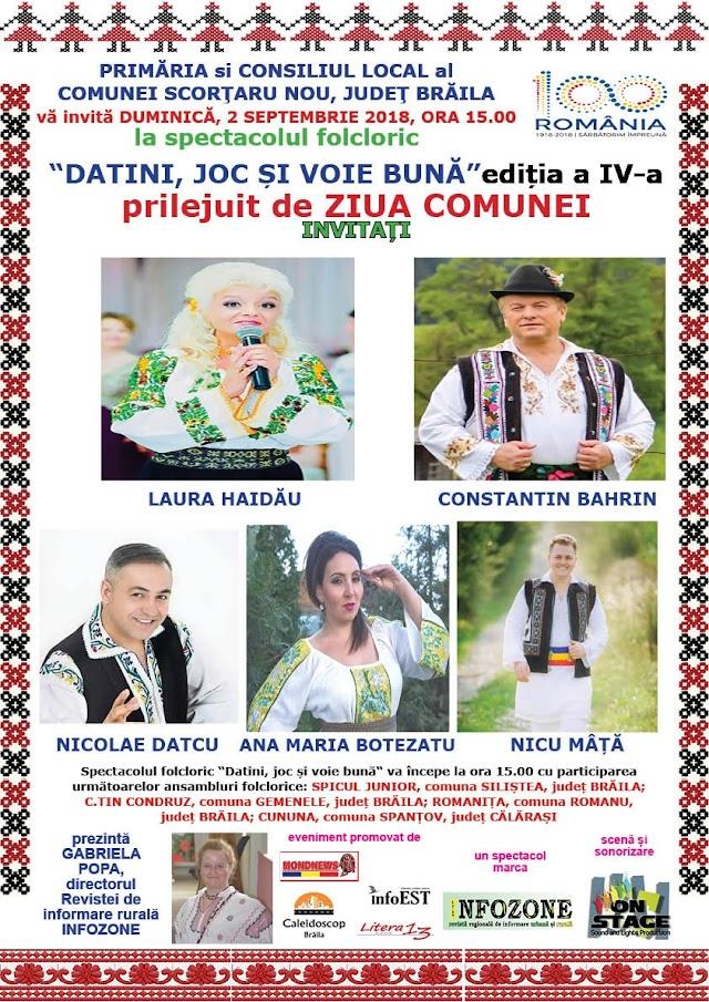 Revista Infozone: program intens si de mare valoare artistica, Datini, joc si voie buna