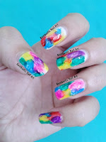 Rainbow colorful nails