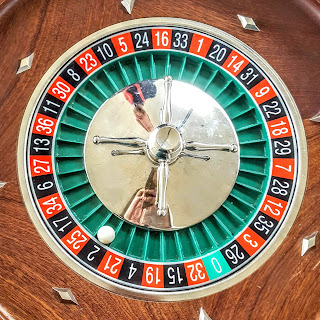 A roulette table on Black 2