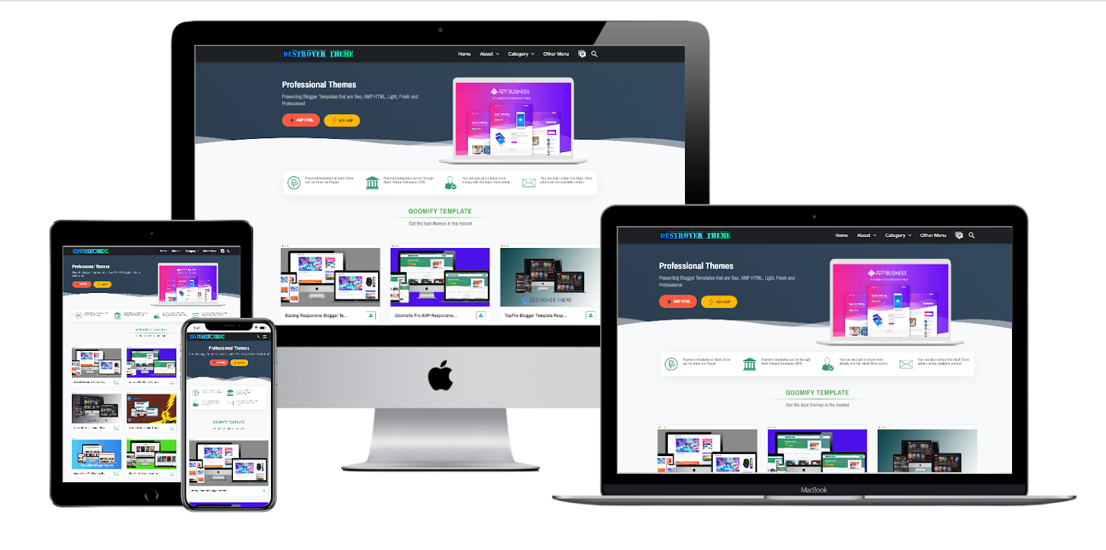 Gomifly Responsive Blogger Template