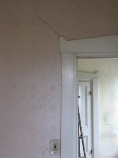 cracked door frame