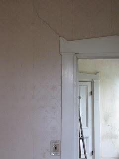 cracked door frame