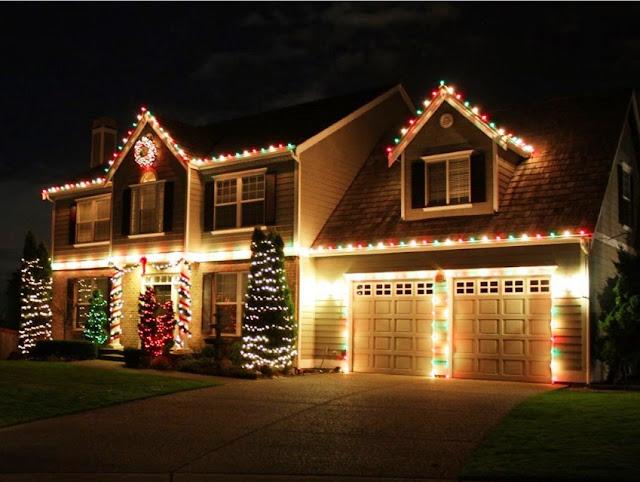 new year 2017 lighting decoration
