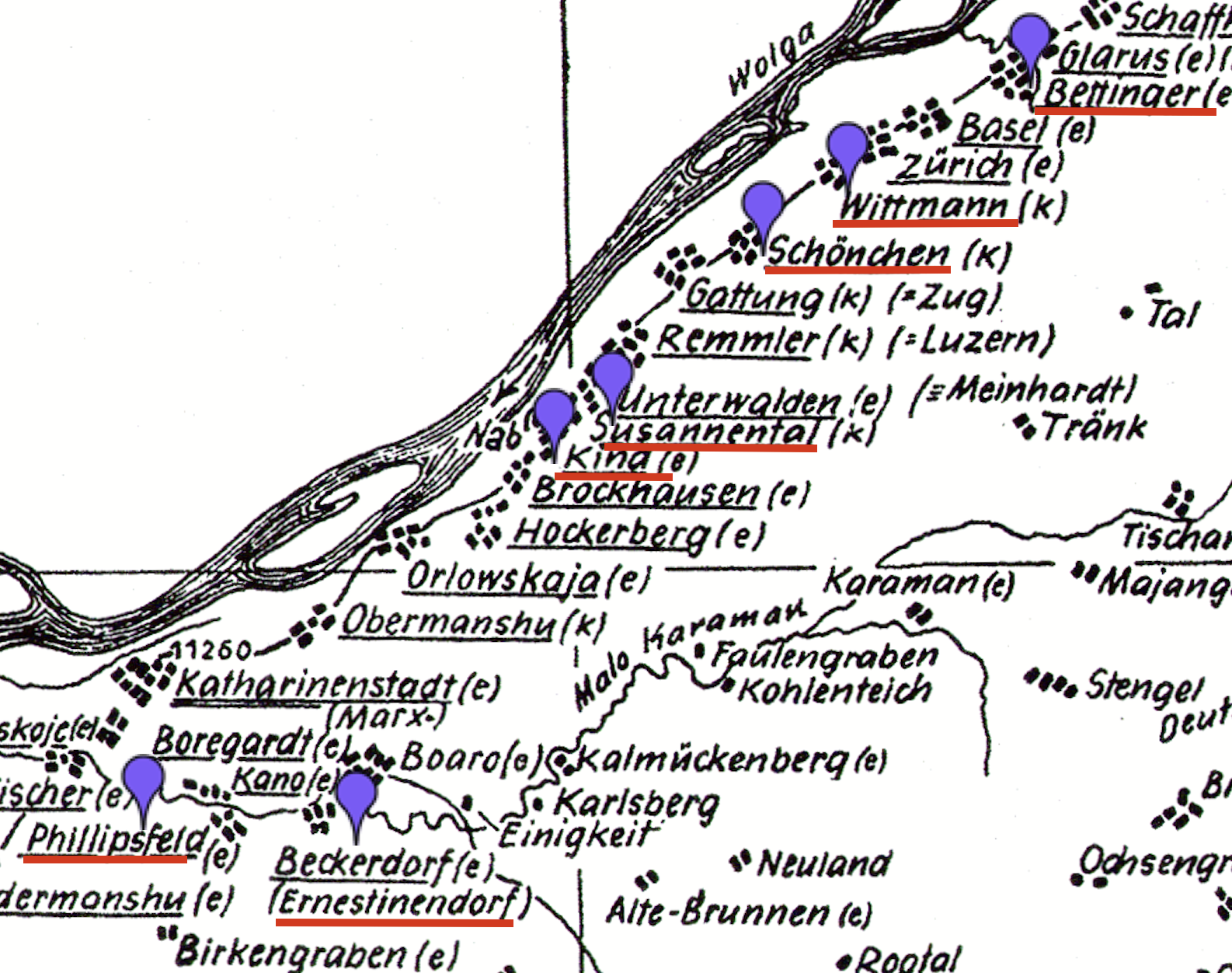 Germans From Russia Settlement Locations On This Day 3