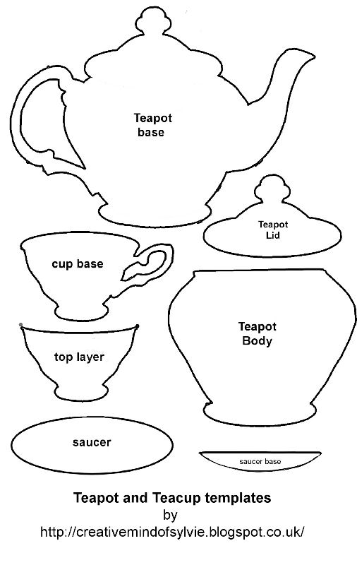 It is a graphic of Teacup Template Printable in simple