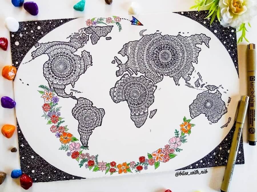 07-Map-of-the-World-Mandala-S-V-Apnar-www-designstack-co