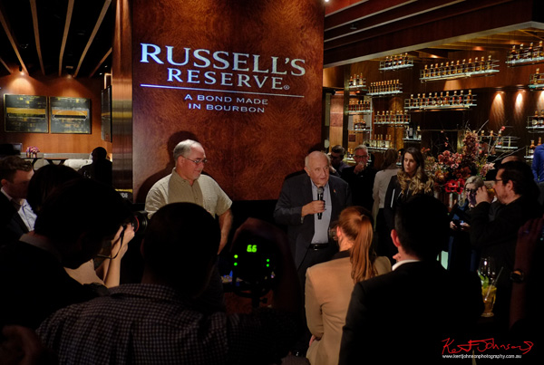 Master distillers Eddie and Jimmy speaking at the Russell's Reserve 10 Year Bourbon launch at Grain Bar Sydney