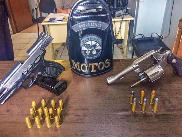 Guarda Municipal de Pinhais (PR) apreende menores armados no bairro Alto Tarumã