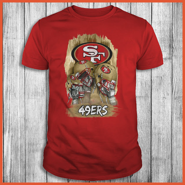 San Francisco 49ers Hand and Helmet T-Shirt
