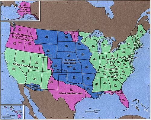 Psychology of Medicine: United States territorial acquisitions