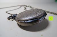 """unten: AWStech Vintage """"one piece"""" Schädel Skelett Skull Quarz Tachenuhr Pocket Watch mit Halskette, Big Size, Beste Willkommen Geschenk"""