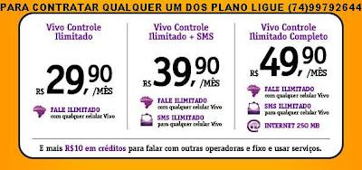 75ebd6c13bd90 Vivo apresenta plano Controle com serviços ilimitados ~ SALOBRO BAHIA