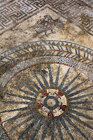 Eagle and ray motif from most complex mosaic [Credit: Denis Gliksman, INRAP]