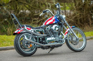 captain america 72 sportster by shaw hd on street side right