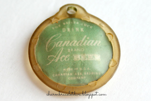 Vintage Canadian Ace Brand Beer Key Chain