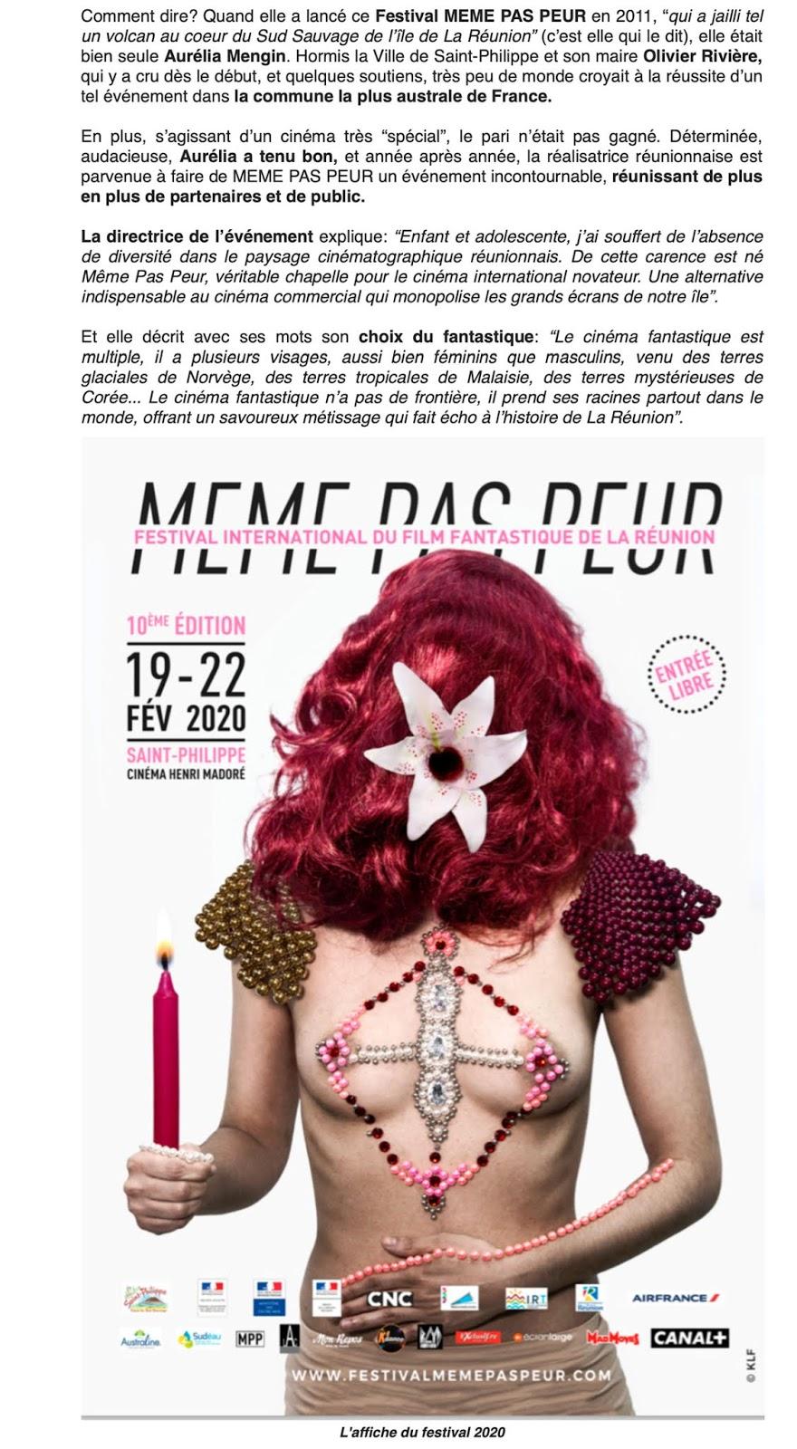 La 10ème édition du Festival MEME PAS PEUR dans Exclusif.re