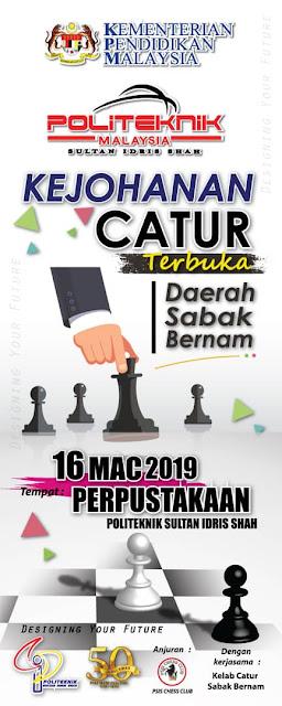 Banting Kejohanan Catur Terbuka Daerah Sabak Bernam 2019