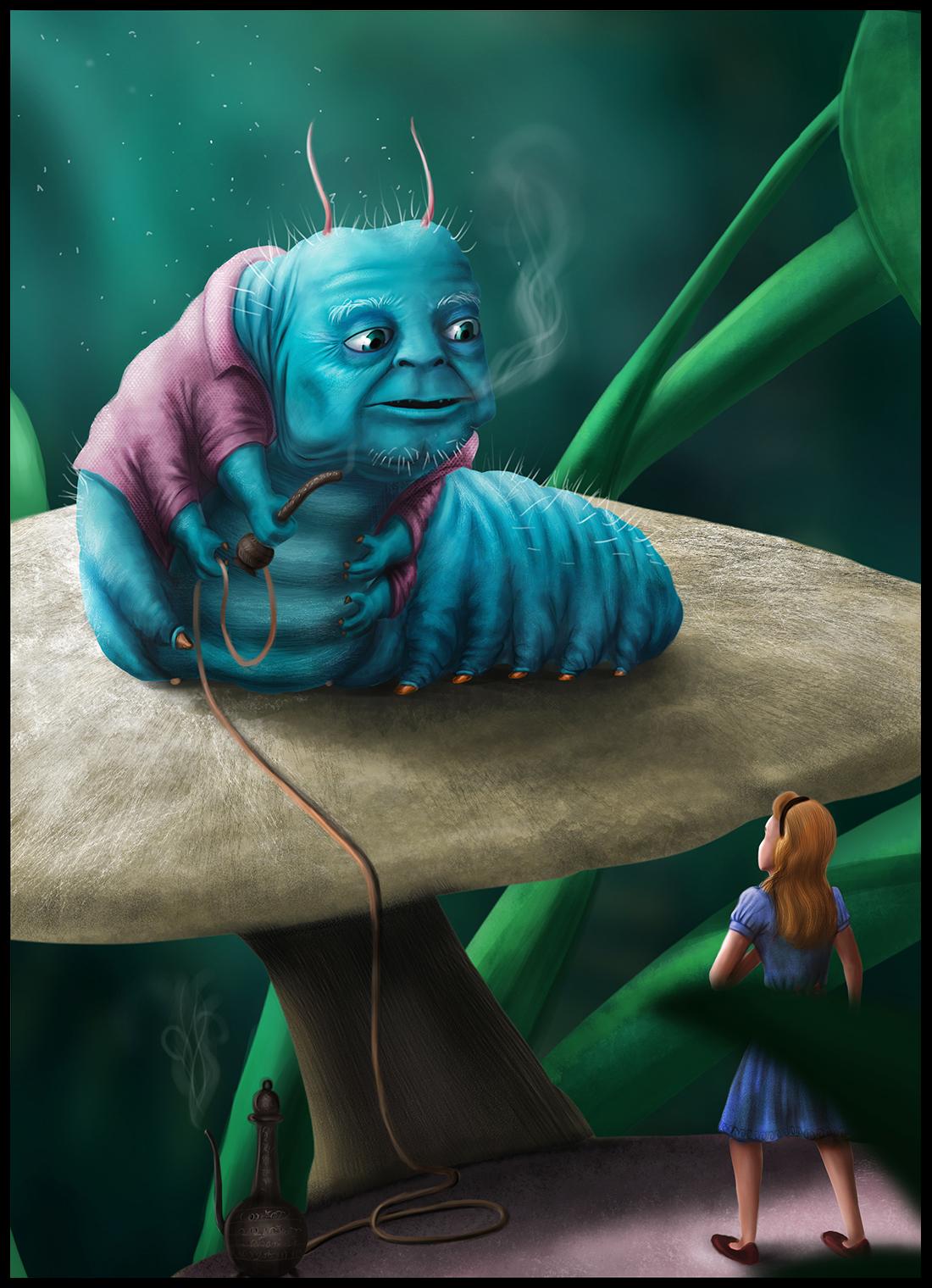 Alice Wonderland Caterpillar Cake Topper Fondant Youtube
