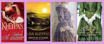 portadas del libro romántico histórico Sedúceme al amanecer, de Lisa Kleypas