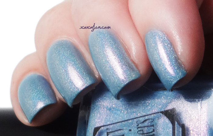 xoxoJen's swatch of Literary Lacquer Swallowed Up In Blue
