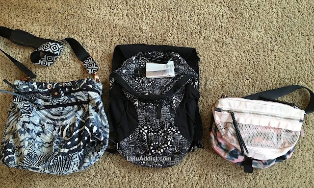 lululemon run-all-day-backpack pretty-lace-print diversity-bag go-lightly