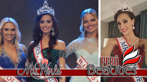 Mrs Perú es Mrs World 2016 / 2017
