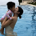Kylie Jenner cuddles daughter Stormi in the pool