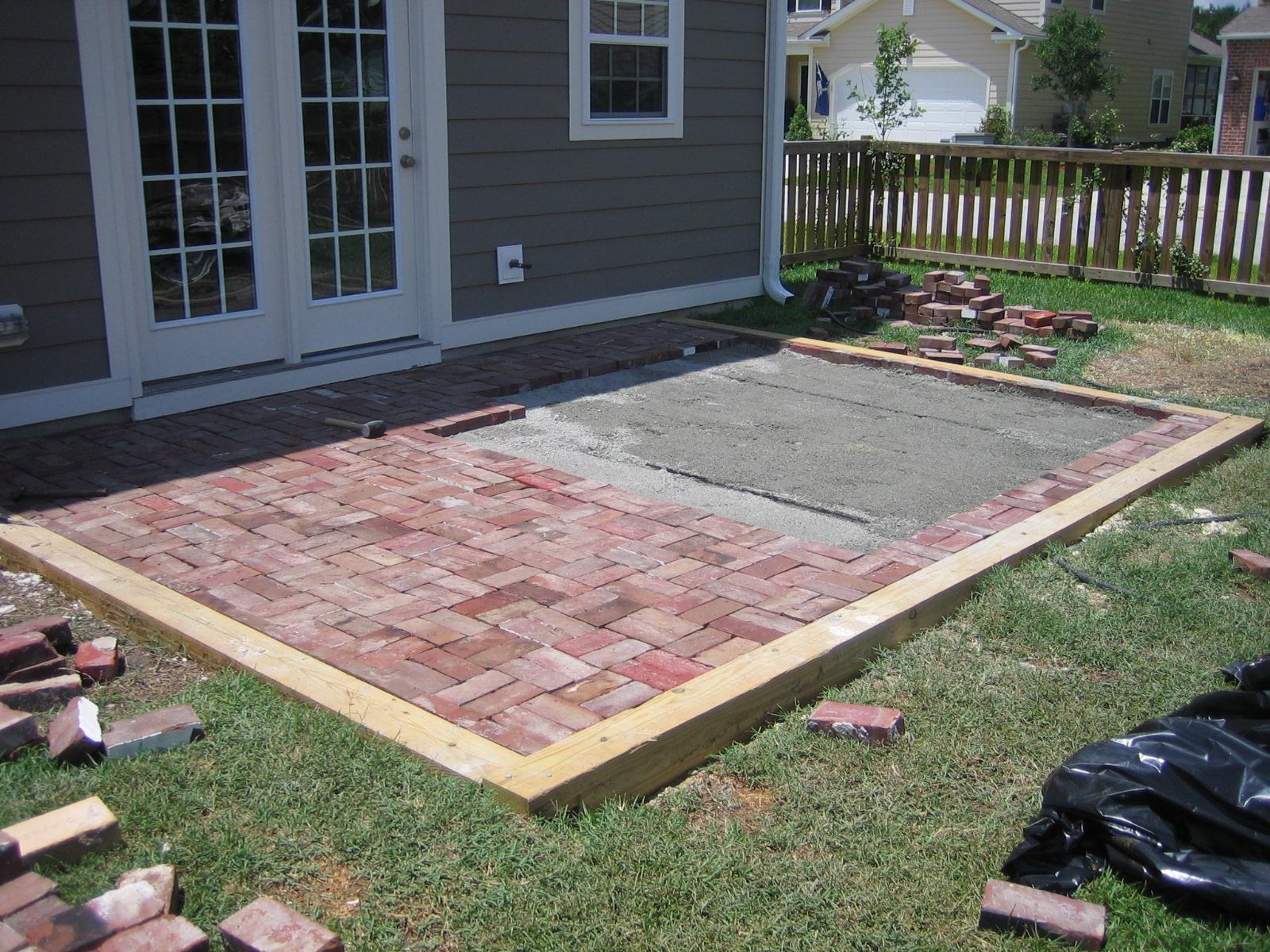 The Lowcountry Lady: Goodbye concrete, hello reclaimed ... on Backyard Brick Patio id=32858