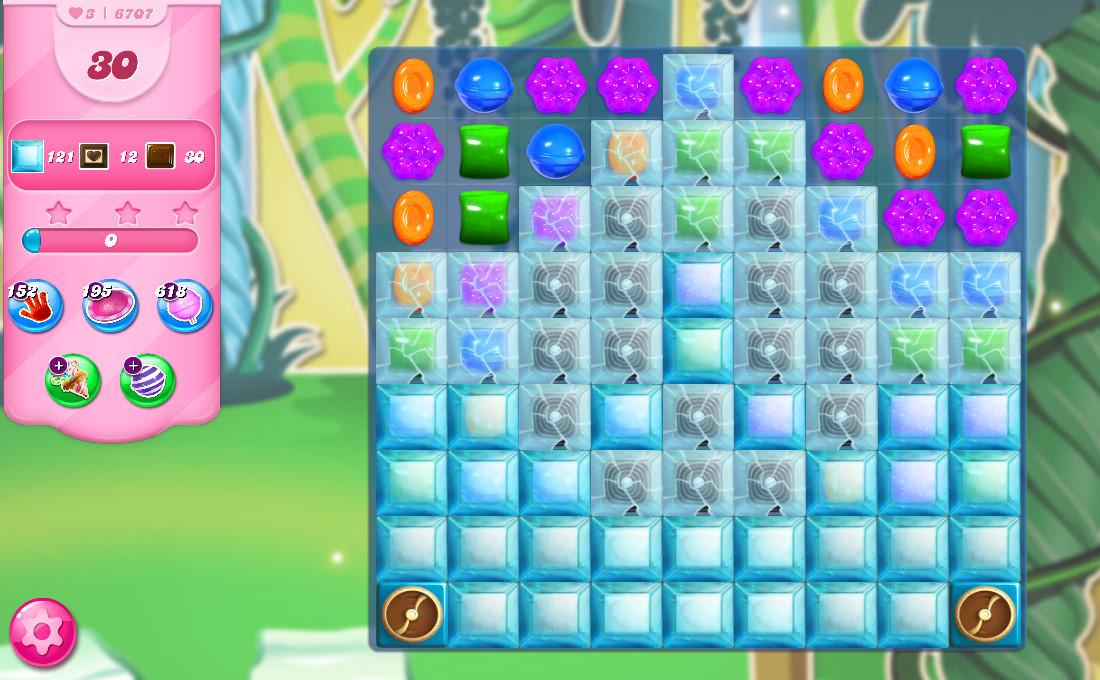 Candy Crush Saga level 6707