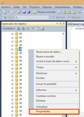 Liberar espacio en disco con SQL Server 2014