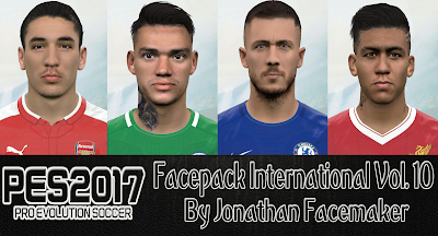 PES 2017 Facepack International v10 by Jonathan Facemaker