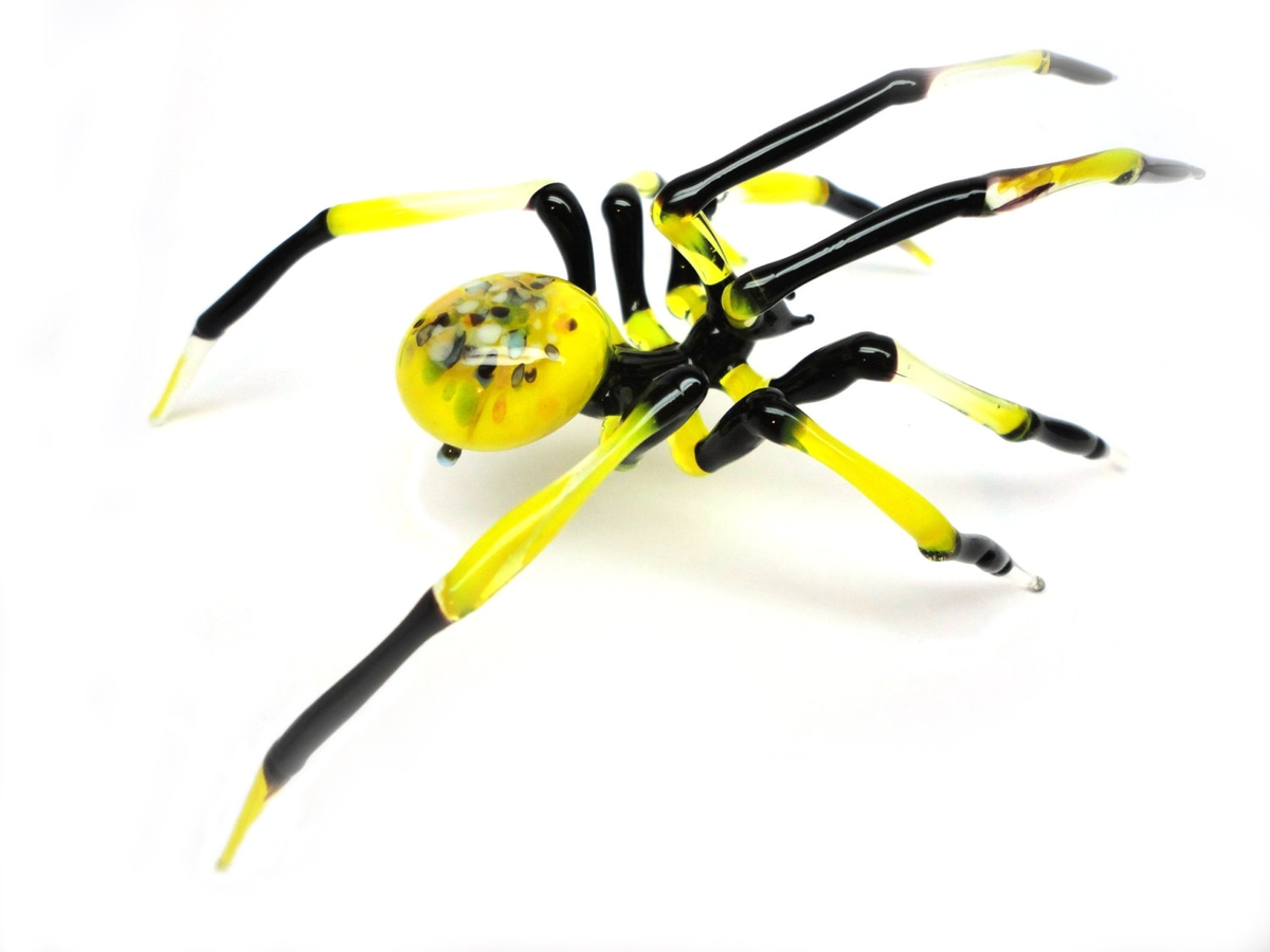 05-Black-and-Yellow-Spider-Nikita-Drachuk-Glass-Symphony-with-Lampwork-Glass-Animals-www-designstack-co