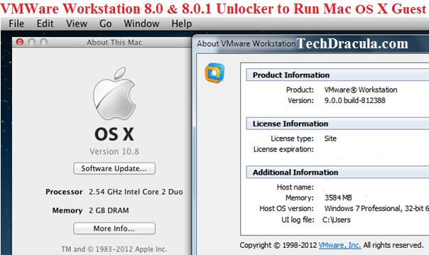VMware Workstation Unlockers to Run Mac OS X Guests [New
