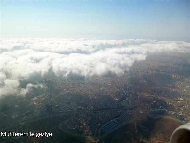 uçak camından çekilmiş resimler