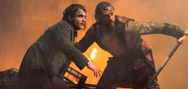 James McAvoy și Daniel Radcliffe în filmul Viktor Frankenstein