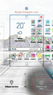 Pengaturan layar depan samsung