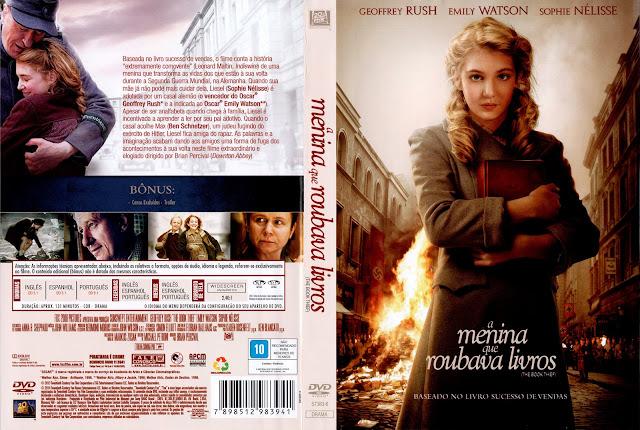 Capa DVD A Menina Que Roubava Livros