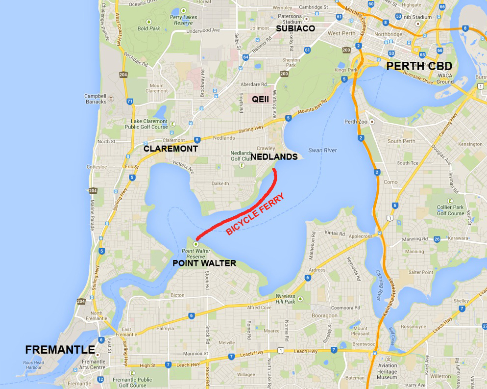 how to get from fremantle to perth international airport