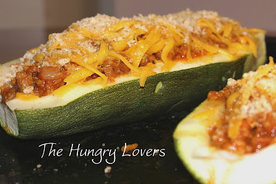 Pizza-Stuffed Squash Boats