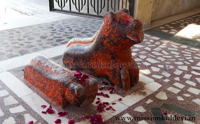 Lion-Idols in Panduka / Kunti Mata Temple Nagaur